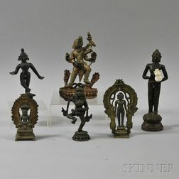 Six Bronze Religious Figurines