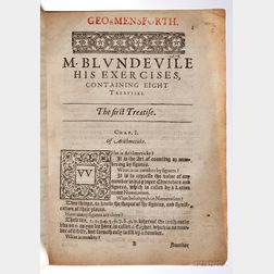 Blundeville, Thomas (active 1561) His Exercises, Containing Eight Treatises.