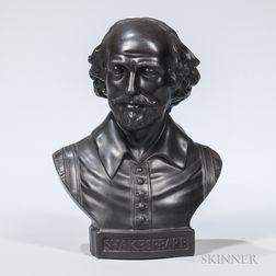 Wedgwood Black Basalt Bust of William Shakespeare