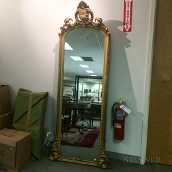 Large Rococo Revival Carved and Gilt-gesso Pier Mirror