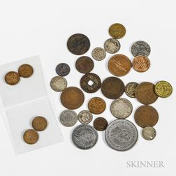 Group of Coins and Tokens