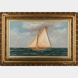 Thomas Willis (New York/Denmark, 1850-1925)      Portrait of a Schooner Yacht