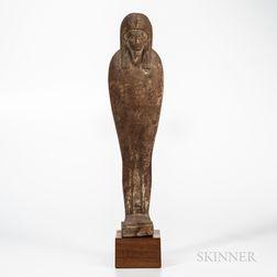 Large Mummiform Wood Figure