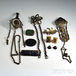 Group of Mostly Silver-plated Vintage Jewelry