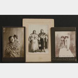 Three Photographs of American Indian Women