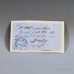 Jourdan, Jean Baptiste (1762-1833) Clipped Signature.