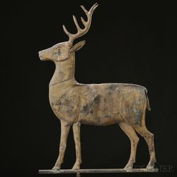 Molded Copper Stag Weathervane