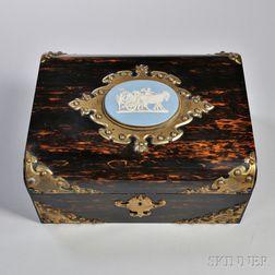 Wedgwood and Brass-mounted Coromandel Jewel Box