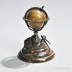 Newton's 3-inch Bronze-mounted Terrestrial Globe