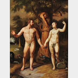 After Cornelis Cornelisz. van Haarlem (Dutch, 1562-1638)      The Fall of Man, 1592