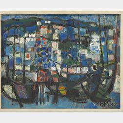 Zvi Mairovich (Israeli, 1911-1974)      Haifa Harbor