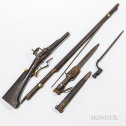 Group of Bayonets and Gun Parts