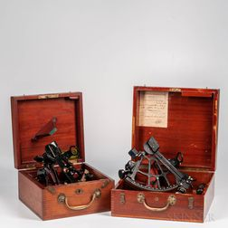 Two U.S. Navy Boxed Sextants
