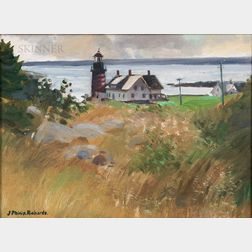 J. Philip Richards (American, 1906-1991)      Quoddy Lighthouse, Lubec