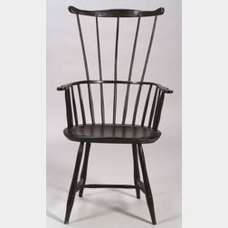 Windsor Comb-back Black Painted Armchair