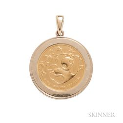 18kt Gold and Gold Coin Pendant, Van Cleef & Arpels