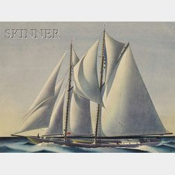 Sandor Bernath (American, 1892-1984)      Lot of Two Scenes of Sailing Yachts: Yacht Racing
