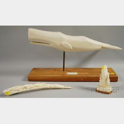Three Assorted Modern Carvings of Whales