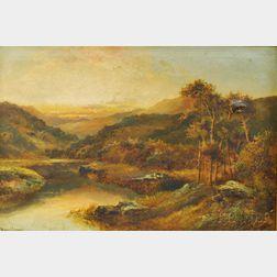 Henry Cooper (British, fl. 1910-1935)      Autumn Landscape at Dusk