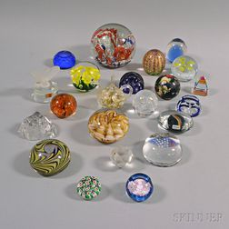 Approximately Twenty-one Art Glass Paperweights