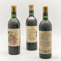 Chateau Pichon Longueville Lalande 1967, 3 bottles
