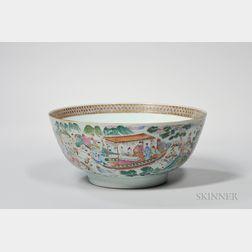 Export Porcelain Punch Bowl