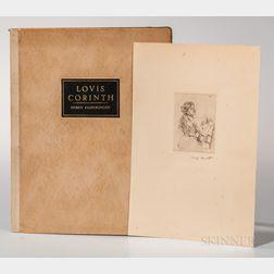 Corinth, Lovis (1858-1925) Sieben Radierungen.