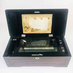 """""""8 Airs"""" Grain-painted and Inlaid Rosewood Music Box"""