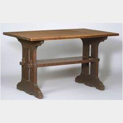 Gustav Stickley Oak Lunch Table