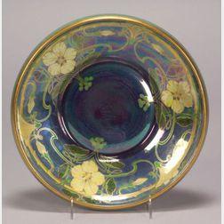 Art Nouveau Style Earthenware Low Bowl