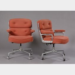 Two Eames Office Armchairs