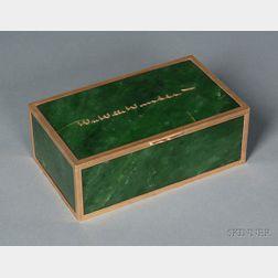 Cartier Nephrite Jade and Yellow Gold Dresser Box