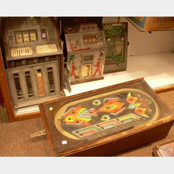 Four Vintage Coin-op Pinball, Arcade, and Slot Machines