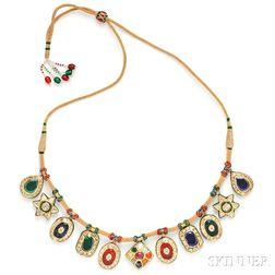 High-karat Gold Fringe Necklace