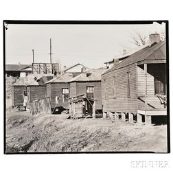 Walker Evans (American, 1903-1975)      Wooden Houses, Possibly Vicksburg, Mississippi