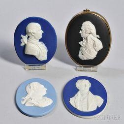 Four Wedgwood Jasper Portrait Medallions