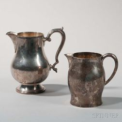 Two American Sterling Silver Pitchers