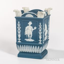 Neale & Co. Solid Blue Jasper Square Bough Pot
