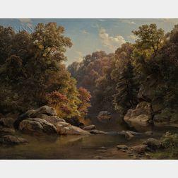 Paul Gottlieb Weber (German/American, 1823-1916)      Autumn Landscape
