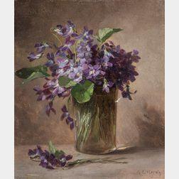 Anna Eliza Hardy (American, 1839-1934)      Violets