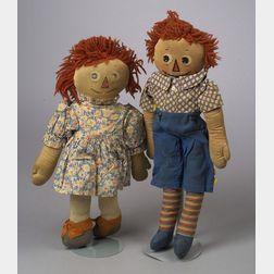 Mollye Cloth Raggedy Ann and Andy