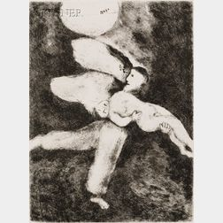 Marc Chagall (Russian/French, 1887-1985)      Lot of Two Book Illustrations:  Plate 33