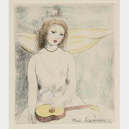 Marie Laurencin (French, 1885-1956)    Jeune fille à la guitare