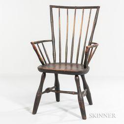 Rod-back Windsor Armchair of Unusual Form