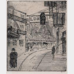 Leon Louis Dolice (American, 1892-1960)      Street Scene, Chinatown