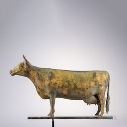 Molded Sheet Copper Cow Weathervane