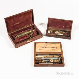 Three Cased 19th Century Enema Sets