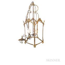 Louis XVI-style Gilt-bronze Lantern