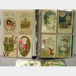 Binder of Easter, Birthday and Greeting Postcards