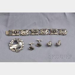Group of Silver Jewelry Items, Georg Jensen